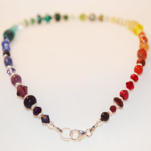 Rainbow Beaded Ankle Bracelet
