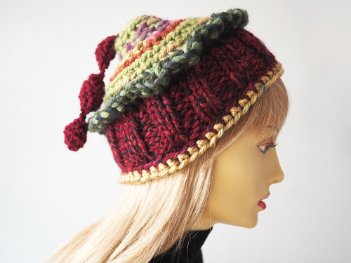 Burgundy berry hat by The Mast Hatter