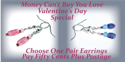 Valentines Day Earrings Promotion